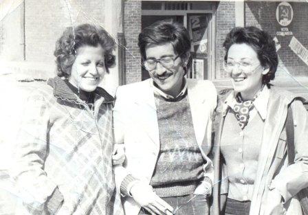 sezione pci a san tommaso con Rosalba, Gaetano e Pupetta